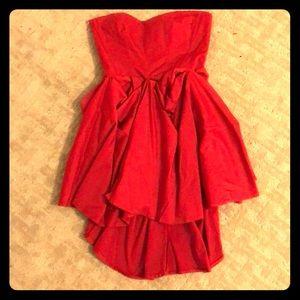 ASOS strapless red dress